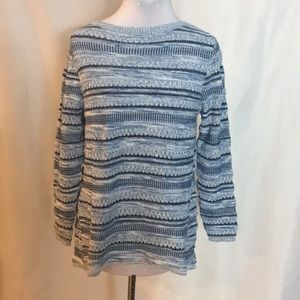 Style&Co blue tweed sweater. NWT!